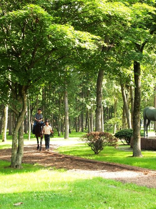 ノーザンホースパークで乗馬